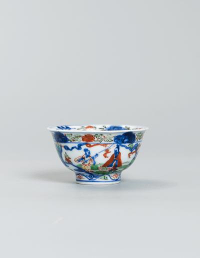 A fine and rare Wucai wine cup