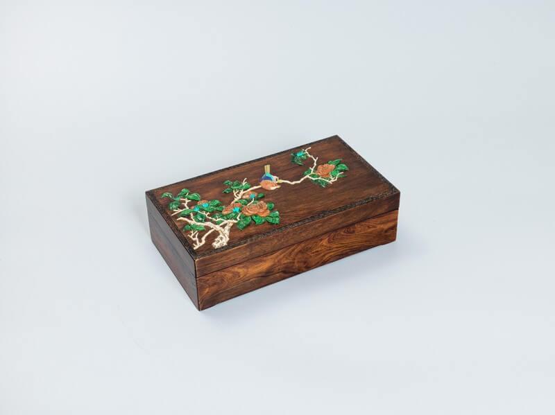 A fine and rare Huanghuali document box