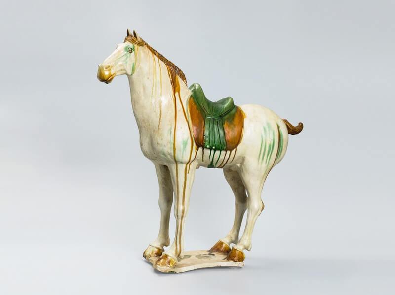 A good and rare Sancai-glazed horse
